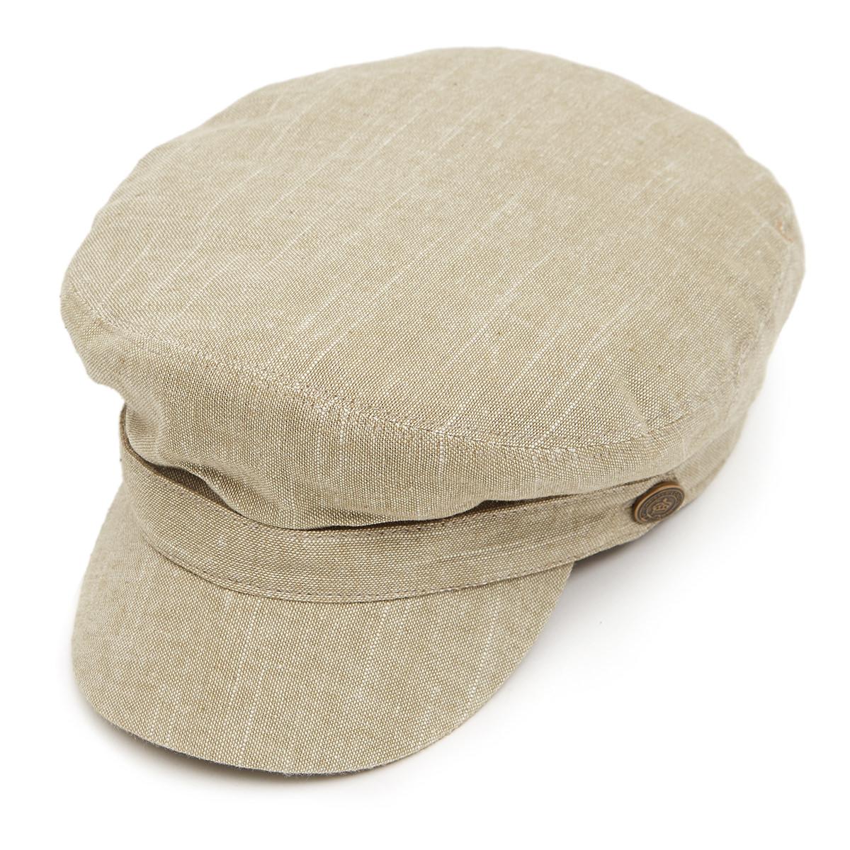Breton Linen Mix Cap - Khaki
