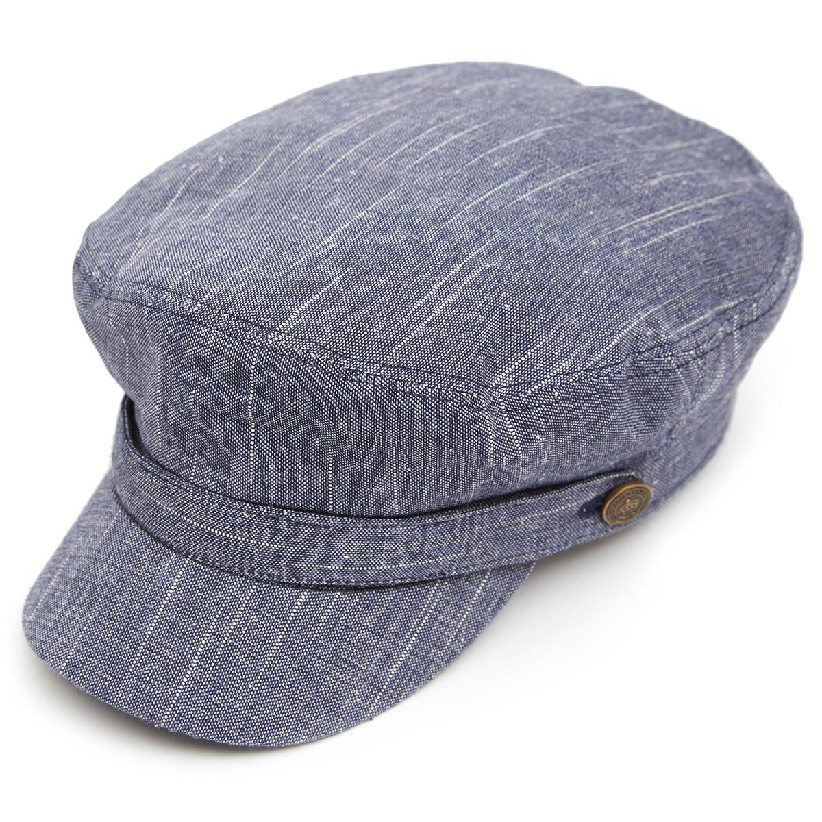 Breton Linen Mix Cap -Navy in XL