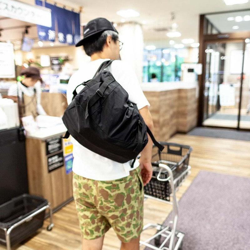 日系輕量防潑水行李/購物三用包 - 兩色 黑色