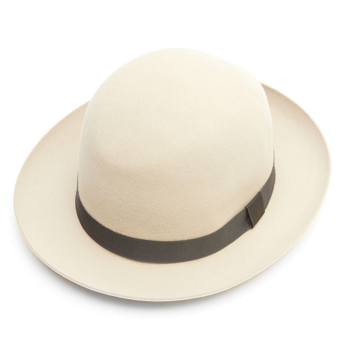 Foldaway open crown unlined trilby hat - BEIGE - size 61