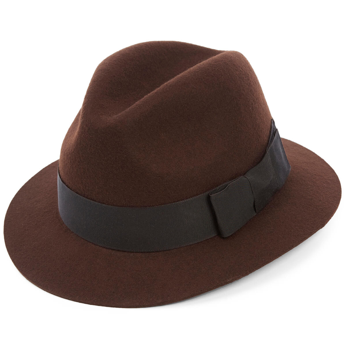 Creswell Wool Felt Trilby Hat - BROWN - size 59