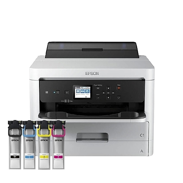 【搭原廠T949四色一組 登入送好禮】EPSON WorkForce WF-C5290高速商用噴墨印表機