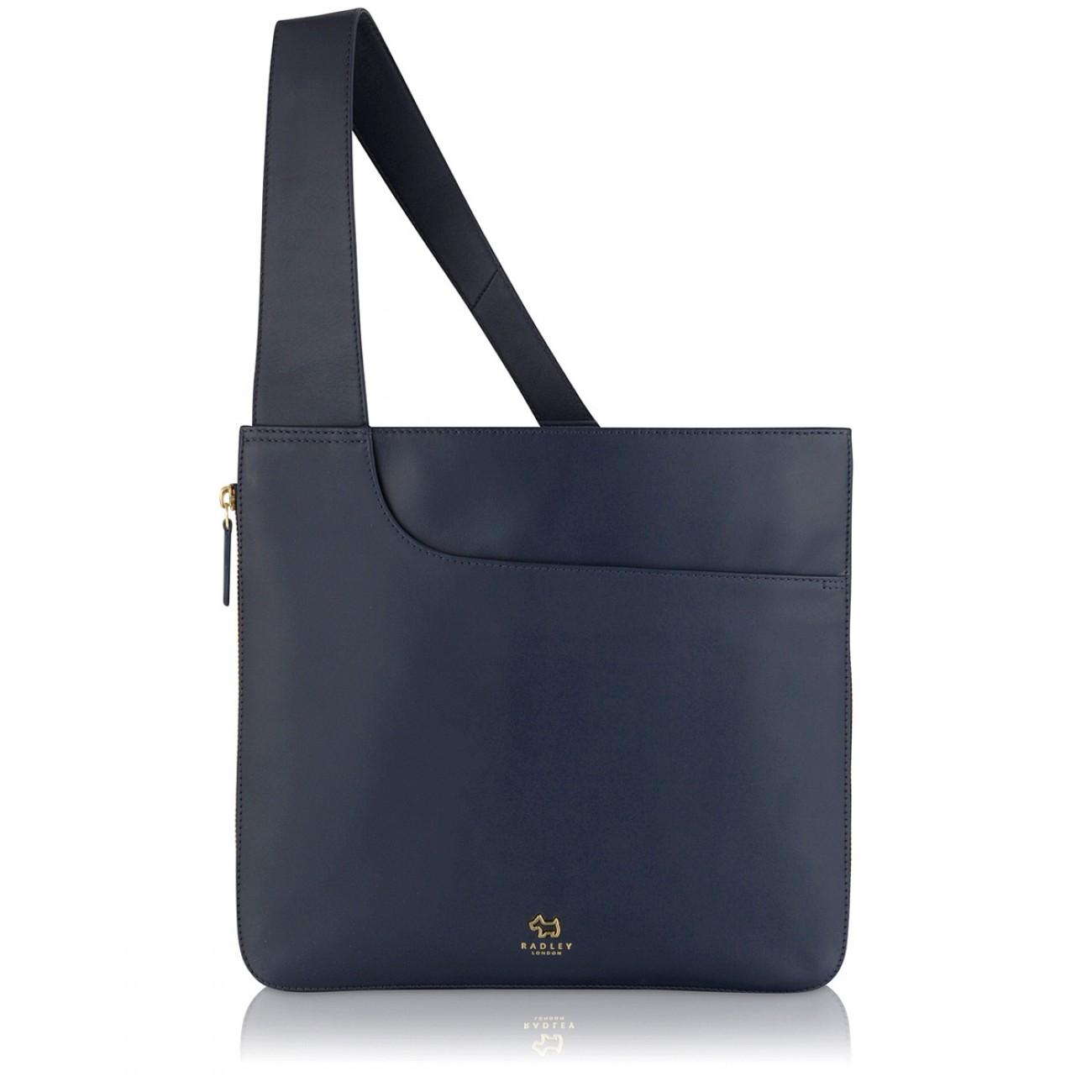 Pockets Large Zip Around Cross Body Bag