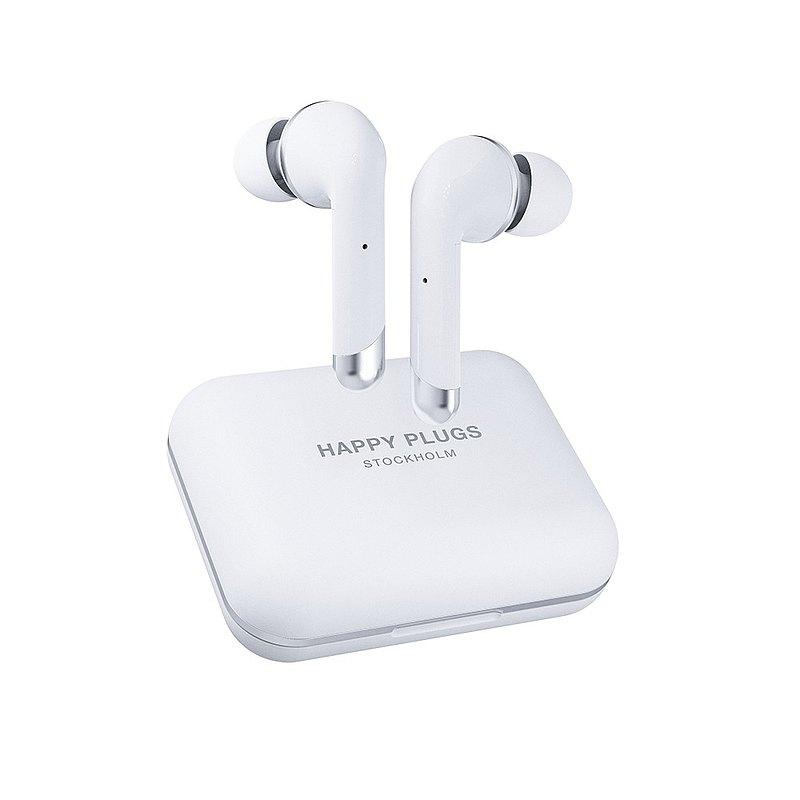 Happy Plugs Air 1 Plus In-Ear 真無線藍牙耳道式耳機 - 羽翼白