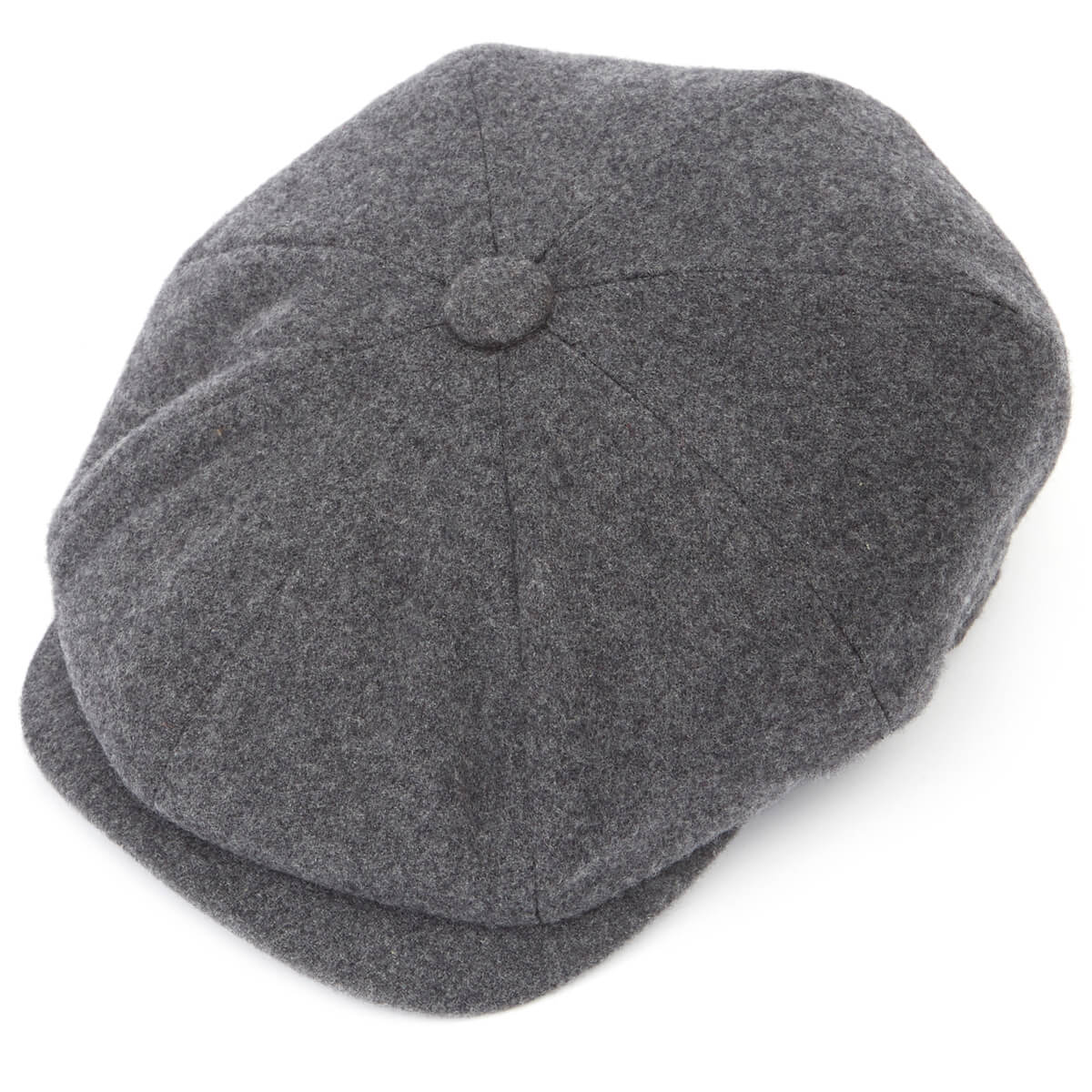 Joshua Ellis Tweed 8 Piece Baker Boy Flat Cap-Grey-XL