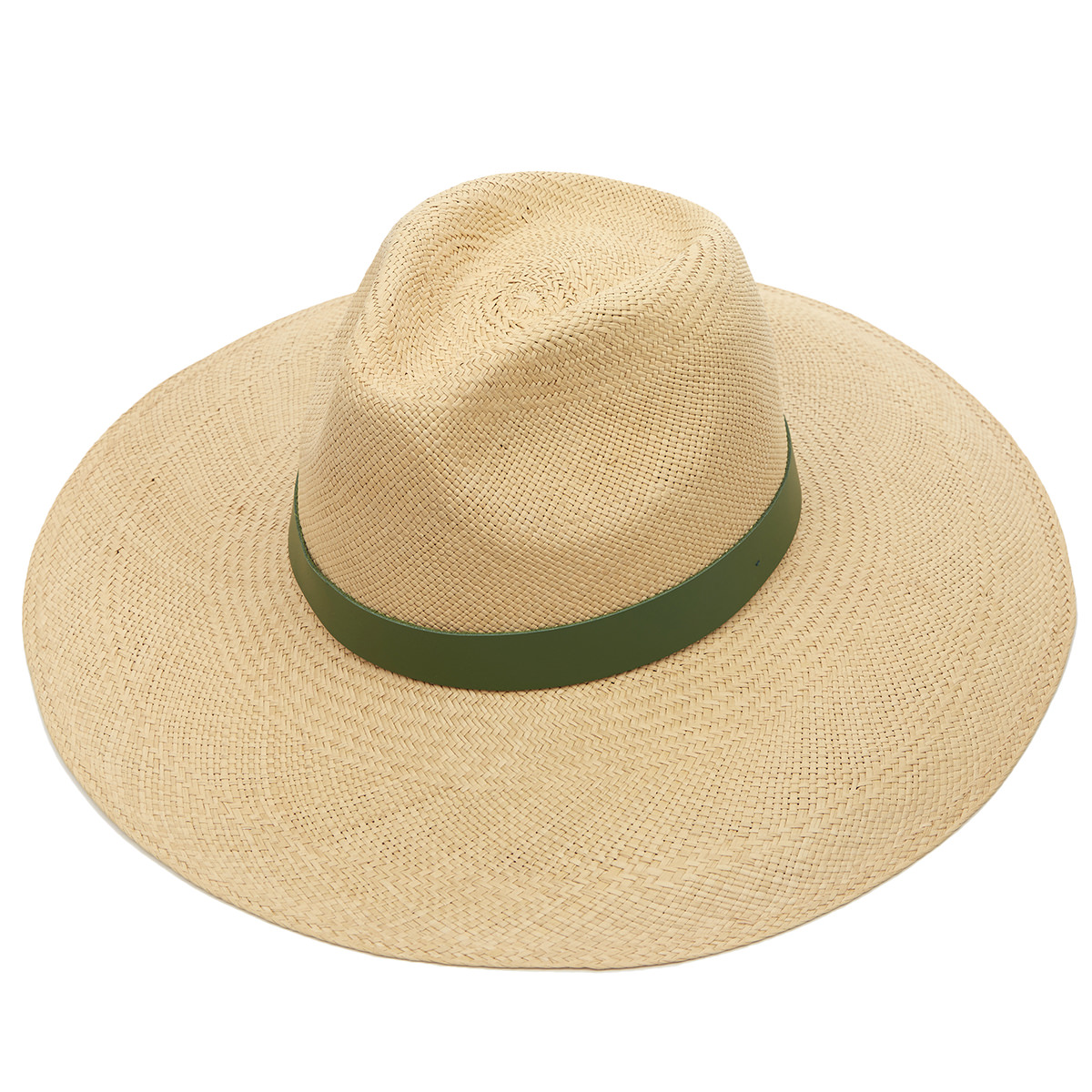 Jessica Wide Brim Panama Hat with Leather Band 61