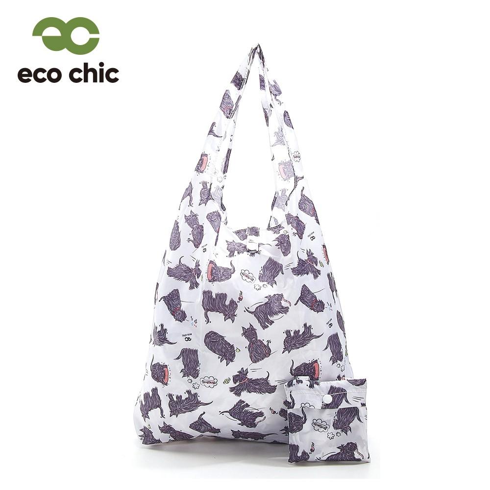 【英國ECO】時尚摺疊購物袋-蘇格蘭獵犬(100%再生環保纖維布料)