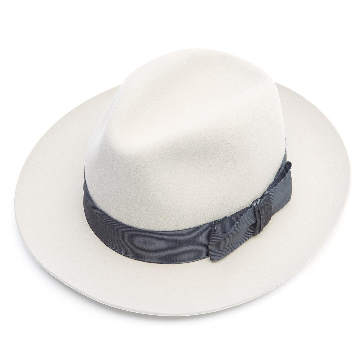 Knightsbridge Fur Felt Fedora Hat - BEIGE - size 62