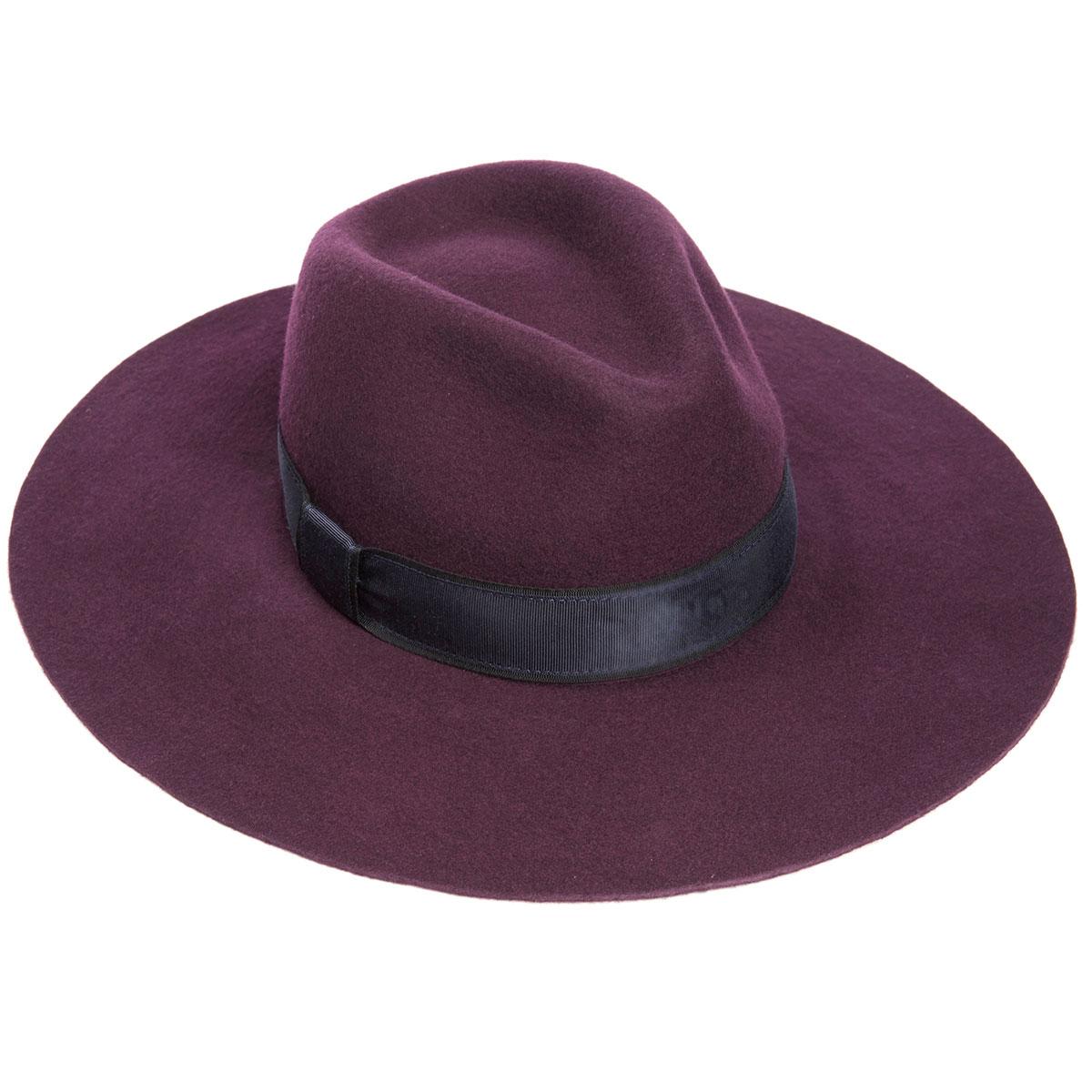 Kimberley Floppy Brim Fedora Hat - Berry - One Size