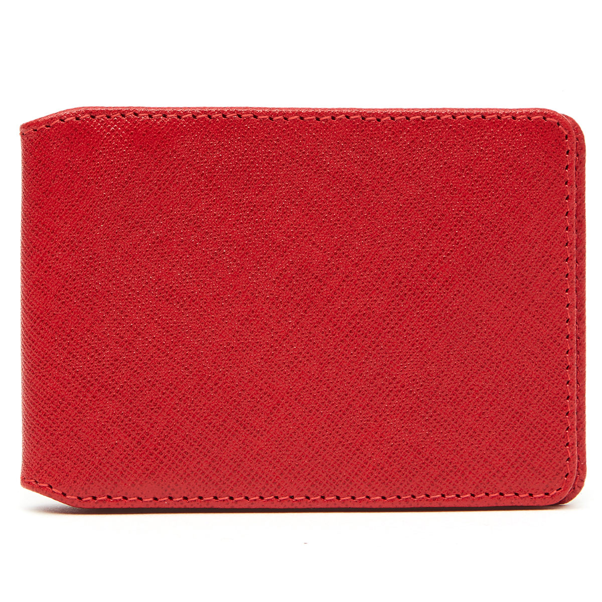 Greenwich Leather Travel Card Wallet - Christys Red
