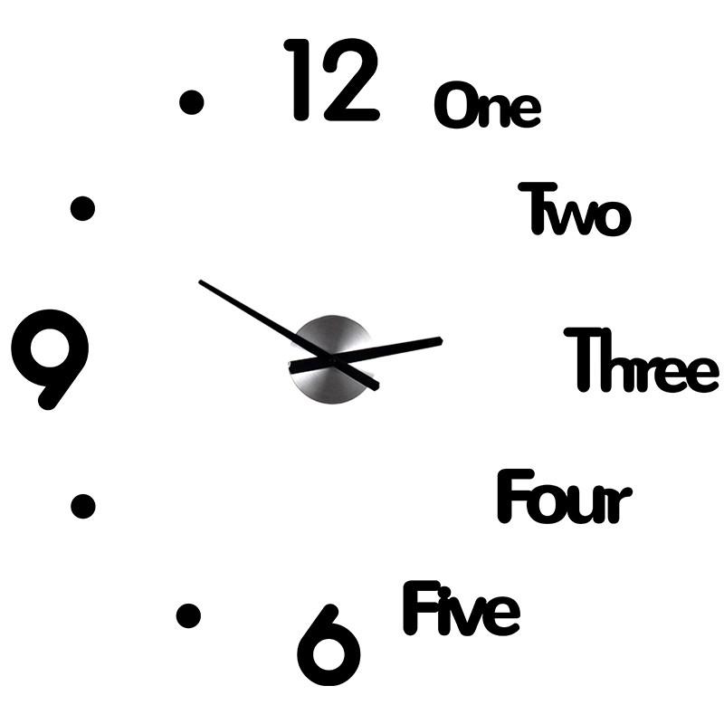 免打孔鐘表掛鐘客廳家用時尚diy簡約創意北歐裝飾時鐘掛表石英鐘