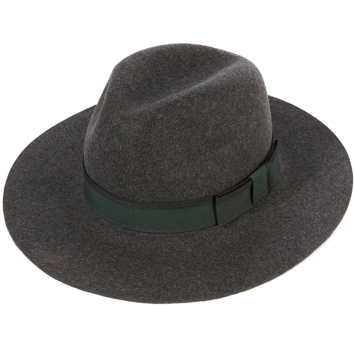 Soho Trilby Hat - MIXG-Charcoal Mi in size 57
