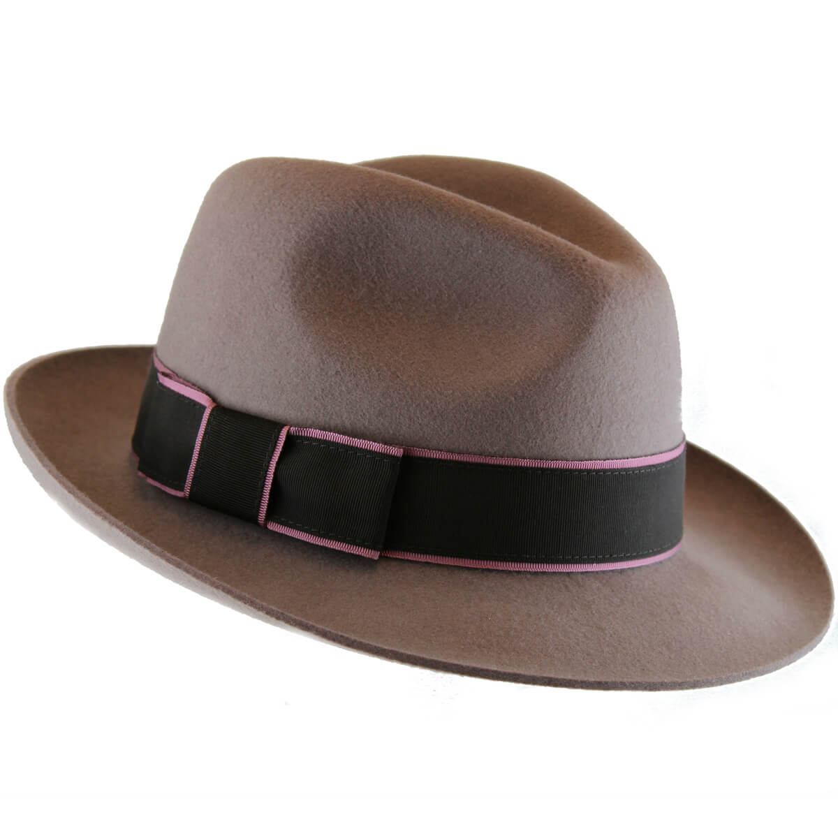 Rosie Wool Felt Trilby Hat - Mink in Size 57