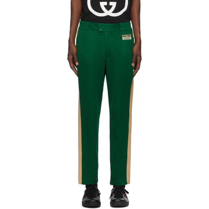 Gucci 绿色 Jogging 运动裤