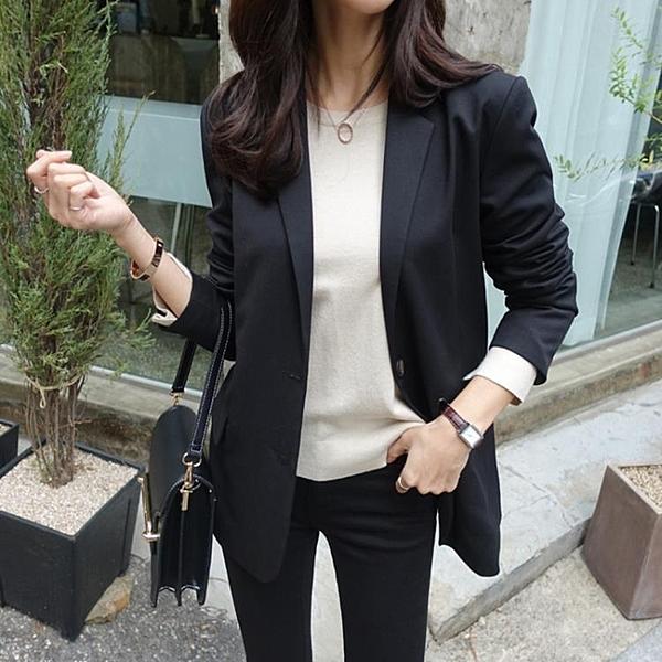 西裝外套 蕾可妮斯小西裝女2020春季新款女士西服甜美簡約外套長袖韓版修身