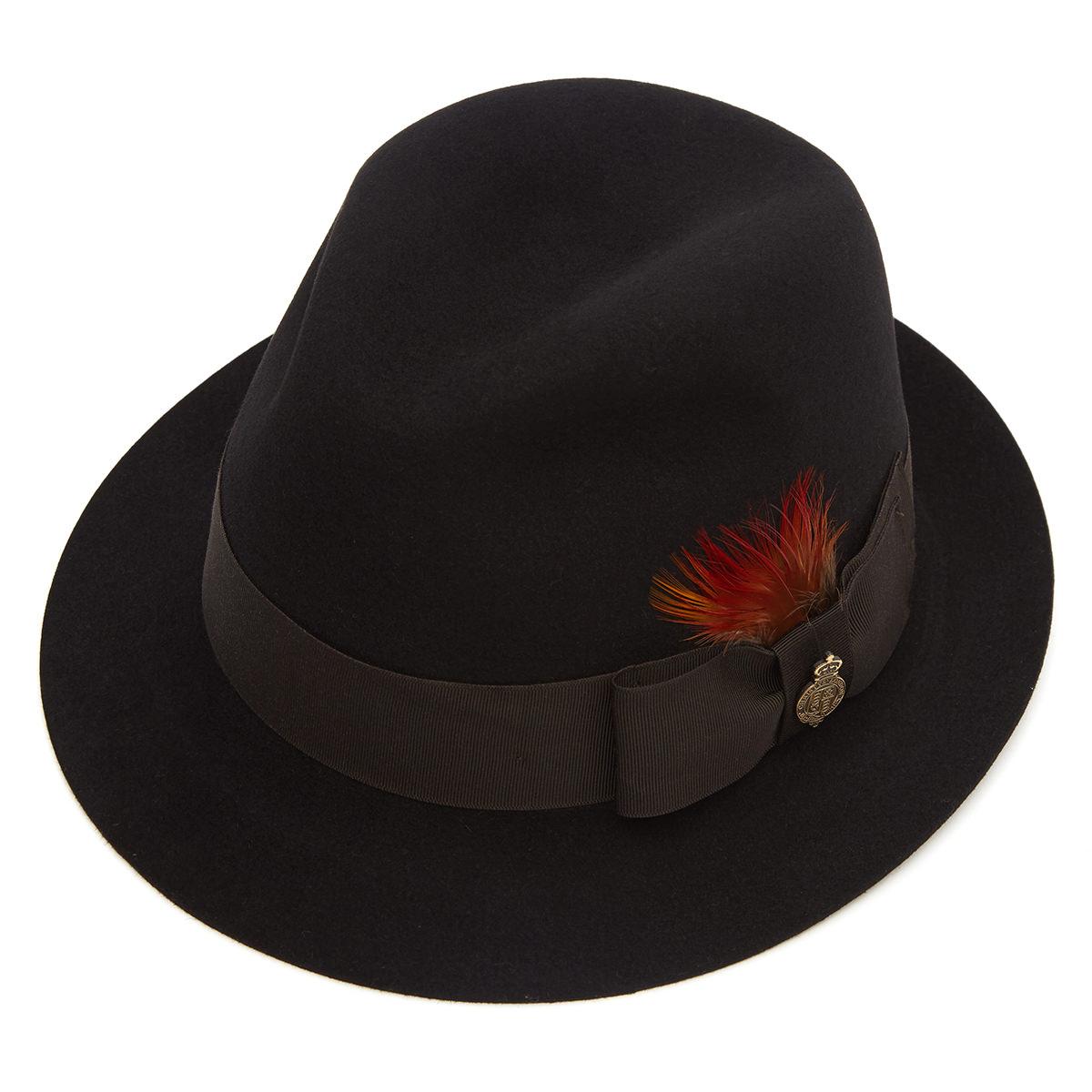 Fulmer Fur Felt Trilby Hat Black S