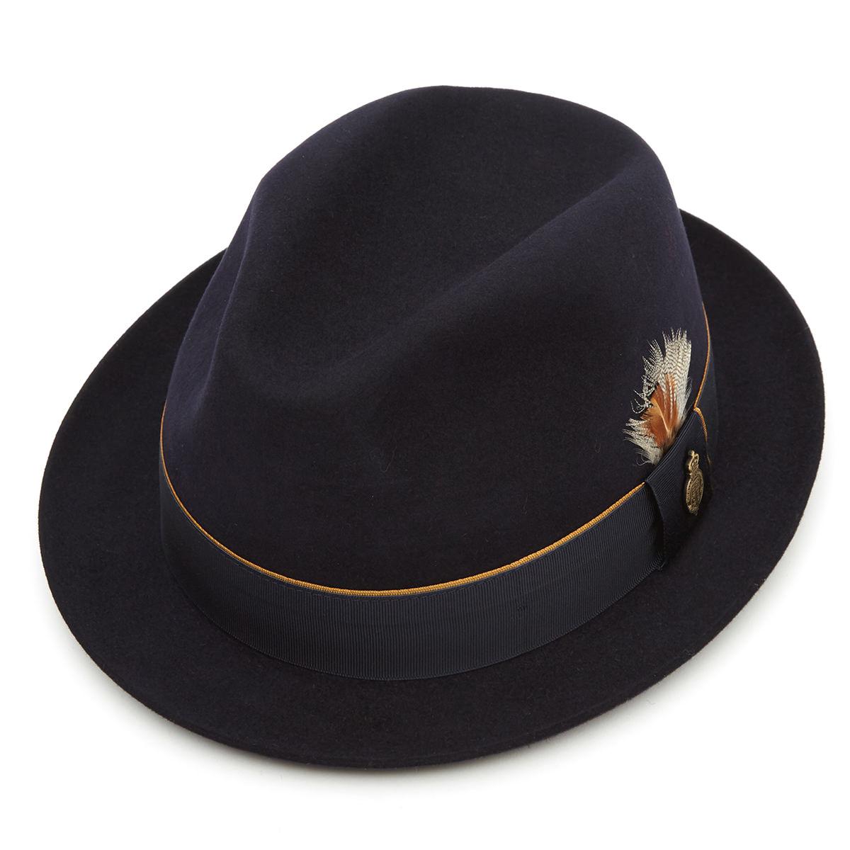 Finchley Fur Felt Trilby Hat Navy 55