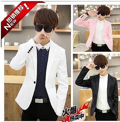西裝外套男 夏天韓版7分修身小西裝男士青少年七分袖西服粉色中袖潮男小外套