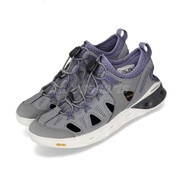 Merrell 戶外鞋 Tideriser Sieve 運動鞋 越野 登山 灰 紫 休閒鞋 涼拖鞋 女鞋【ACS】 ML90524