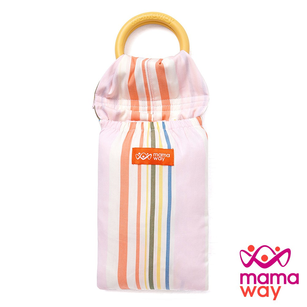 【mamaway媽媽餵】新品上市 育兒揹巾 幸福櫻花草育兒背巾 哄睡神器 寶寶揹巾