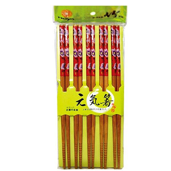 御膳坊 迎賀元氣竹筷(C83-002) 10雙入 隨機【康鄰超市】