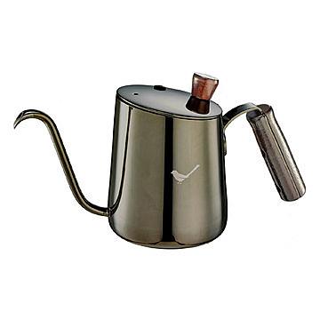 金時代書香咖啡 TIAMO 青鳥斜口細口壺 鈦黑 700ml HA1632TBK
