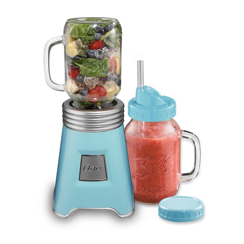【1機2杯優惠組】Ball Mason Jar隨鮮瓶果汁機(藍)+隨鮮瓶替杯 隨鮮瓶替杯組(白)