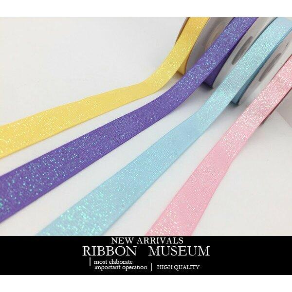 PR3759-15 糖果色五彩蔥羅紋緞帶 16MM