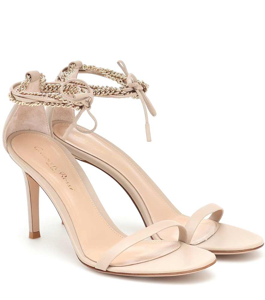 Kira 85 leather and chain sandals