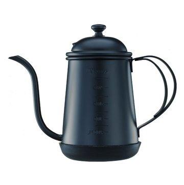 金時代書香咖啡  Tiamo 1405 滴漏式細口壺 0.7L (附刻度標) 武士黑  HA1655BK