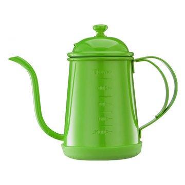金時代書香咖啡  Tiamo 1405 滴漏式細口壺 0.7L (附刻度標) 青蘋綠  HA1655GR