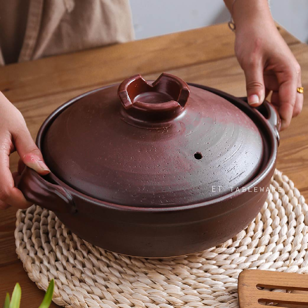 日式 原陶 800 ml 陶瓷砂鍋|深鍋|單個  燉鍋 土鍋 陶鍋 火鍋 雜煮鍋 -外星人餐具