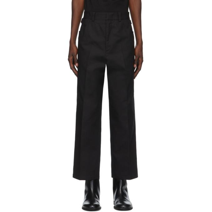 Jil Sander 黑色结构式长裤