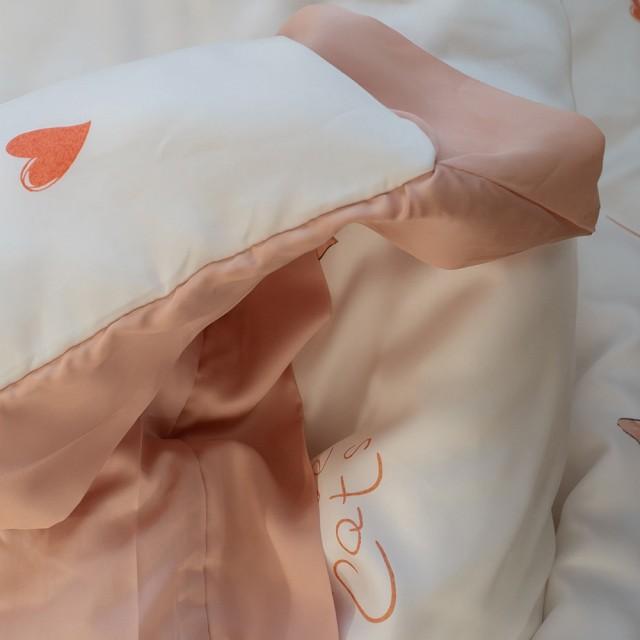 專櫃級(60支)100%天絲 薄床包兩用被組合 喵喵物語【棉床本舖】