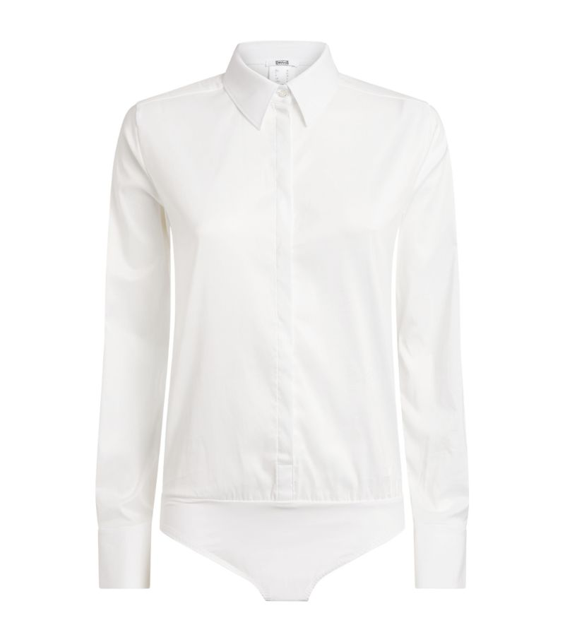 Wolford Cotton-Blend Shirt Bodysuit
