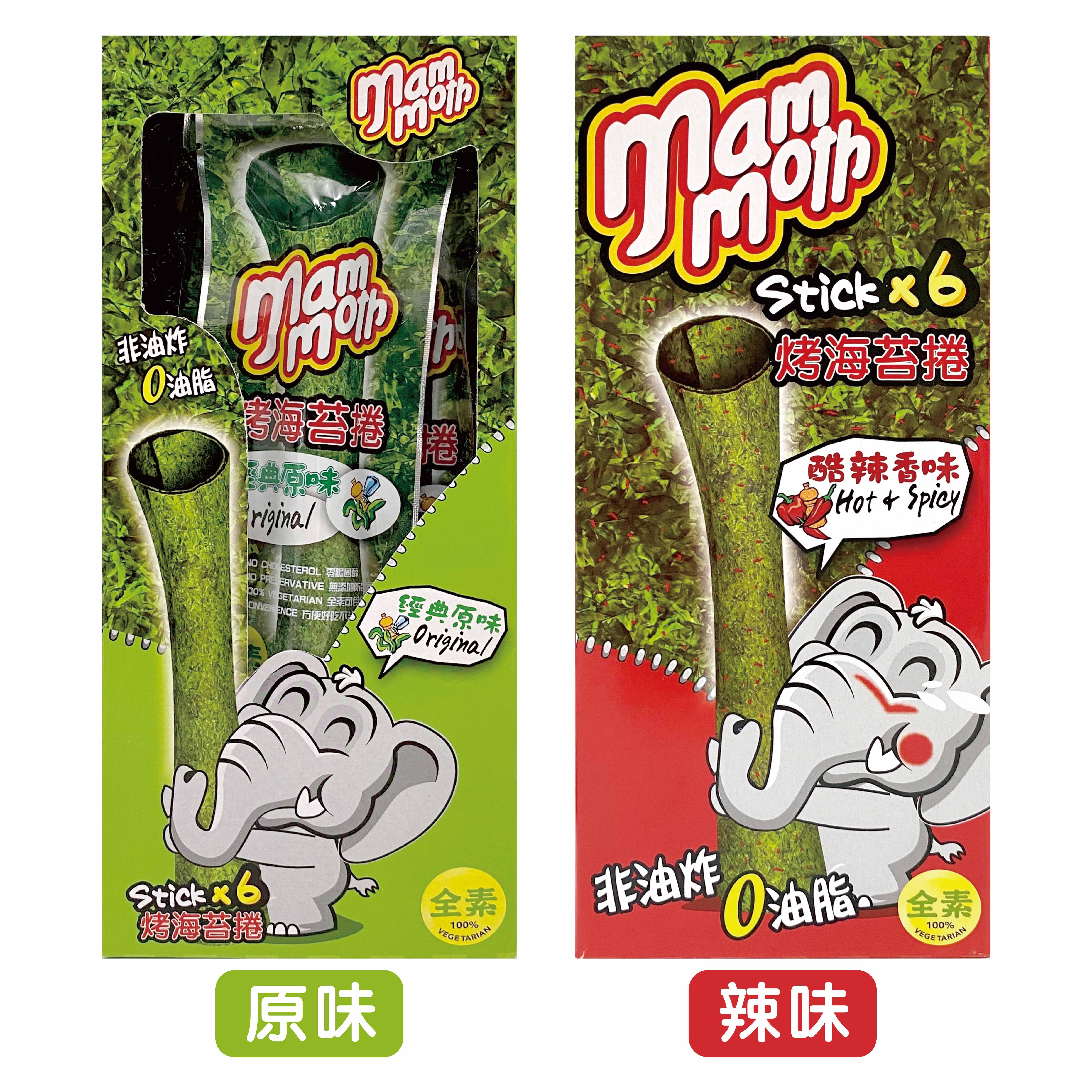 泰國 mm 大象 泰式烤海苔捲18g (酷辣香味/經典原味)