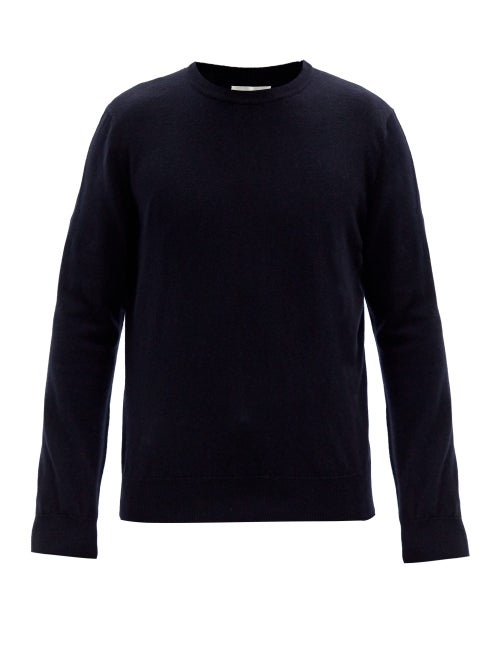 The Row - Benji Crew-neck Cashmere Sweater - Mens - Dark Navy