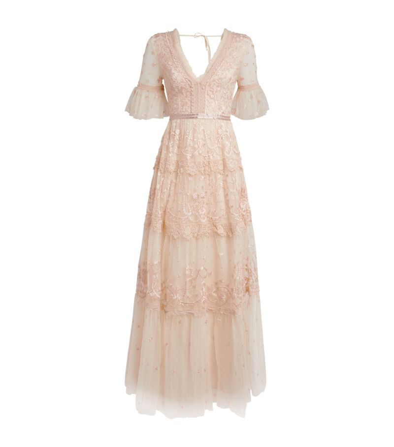Needle & Thread Midsummer Floral Embroidered Gown