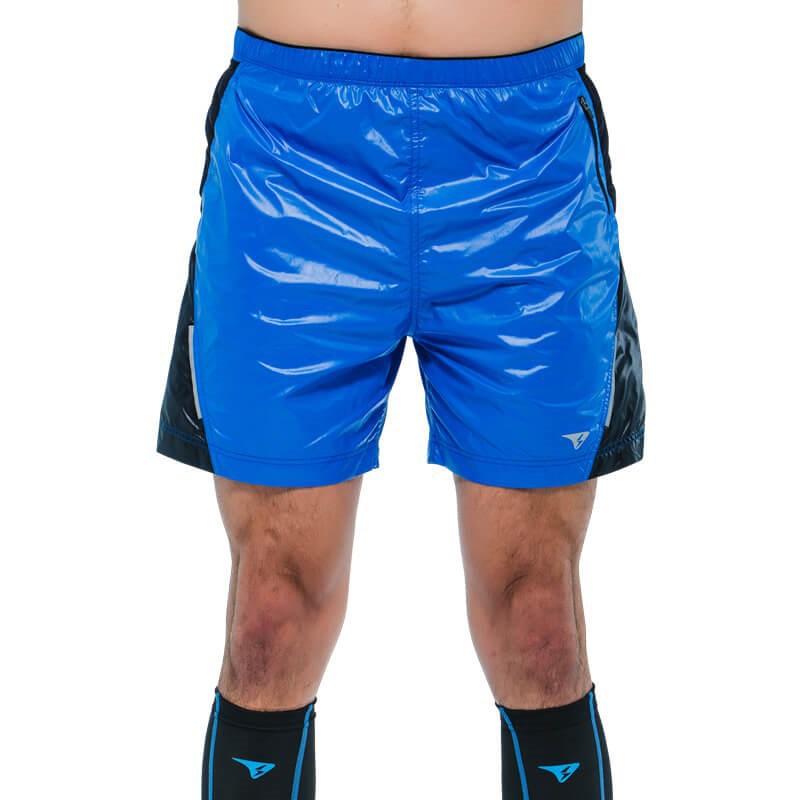 【SUPERACE】SR-TRAIL二合一越野跑短褲 / 男款 / 藍 / 黑
