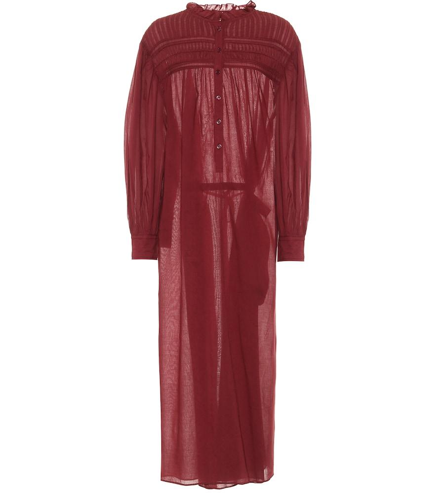 Perkins cotton voile maxi dress