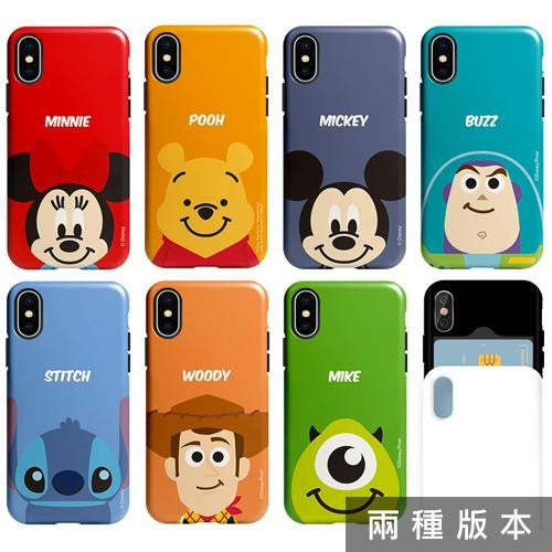 迪士尼 Face 手機殼│雙層殼│推蓋卡夾│Note8 Note9 Note10 Note10+│z9073
