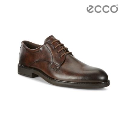 ECCO VITRUS III 北歐正裝紳士德比鞋 男-棕色