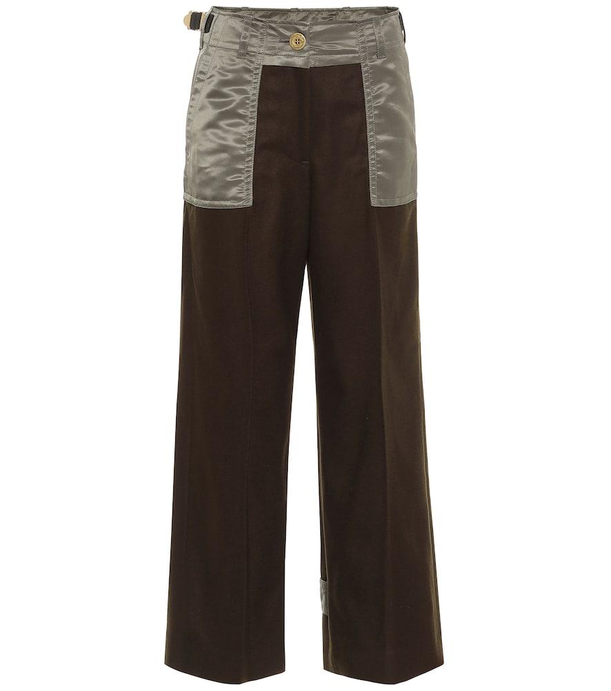 Wool twill pants