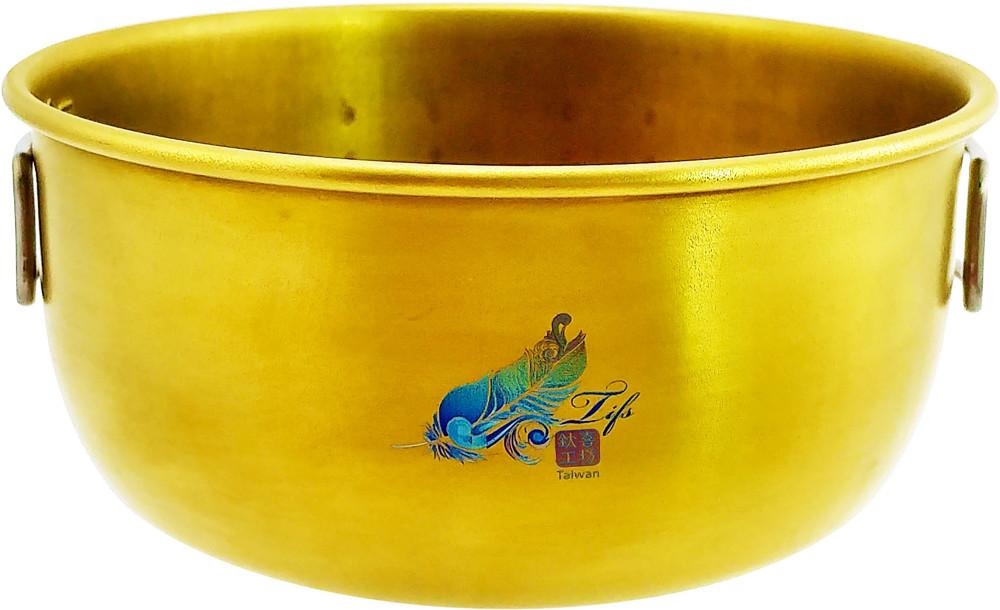 鈦碗鈦喜工坊單層金色純鈦碗-400ml 附把