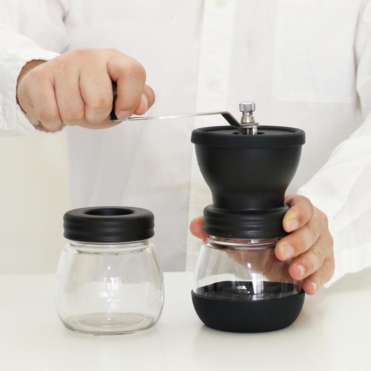 咖啡壺 手搖磨豆機家用小型水洗陶瓷磨芯手工粉碎器 LQ5837【99購物節】