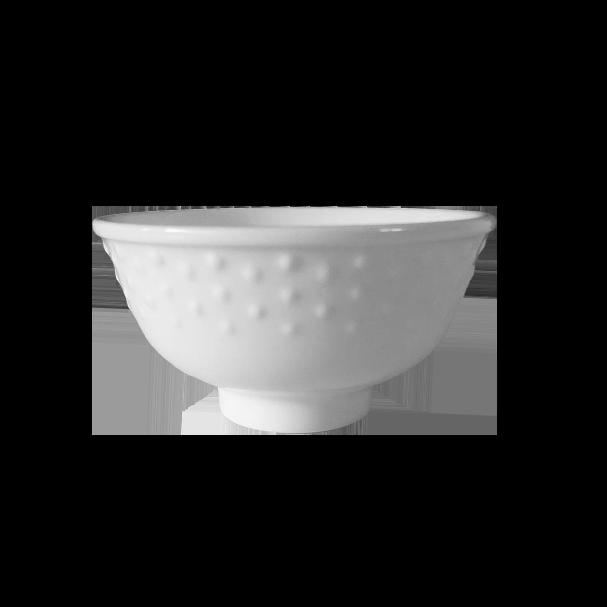 白瓷飯碗-銅盤花(Φ11.2 x 5.7 cm)飯碗 陶瓷碗 圓碗 - 外星人餐具