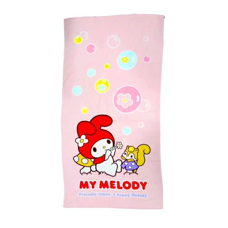 【Sanrio三麗鷗】美樂蒂吹泡泡-浴巾 100%棉 76x152cm