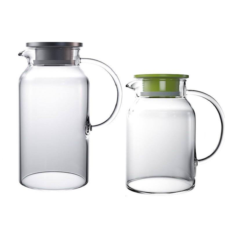 天喜冷水壺玻璃耐熱高溫家用涼白開水杯茶壺套裝扎壺大容量涼水壺