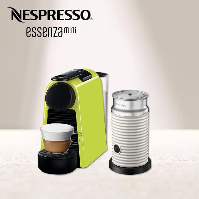 Nespresso Essenza Mini 萊姆綠 Aeroccino3奶泡機 組合(奶泡機可選色)