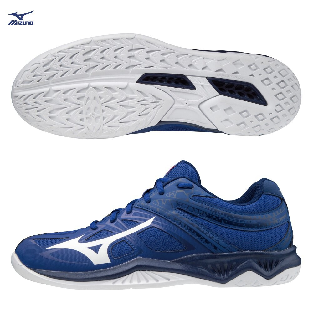 MIZUNO THUNDER BLADE 2 男鞋 女鞋 排球 輕量 楦頭2.5E 藍【運動世界】V1GA197020